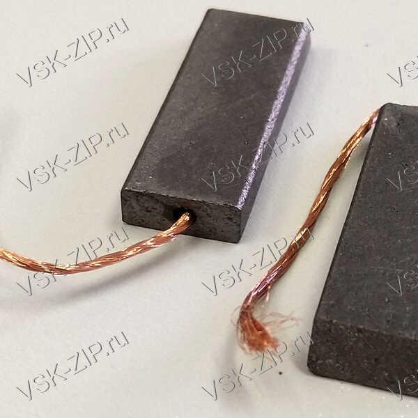 Щетки 5x12,5x35 для электродвигателя, провод от центра (комплект 2шт.)