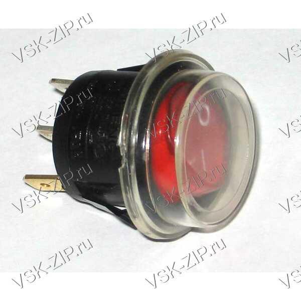 Выключатель круглый одноклавишный (06) с защитным колпачком